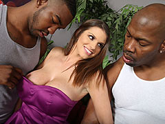 Brooklyn Chase in interracial gangbang
