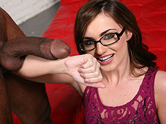Lily Carter having interracial hardcore fuck with a huge cocked black man