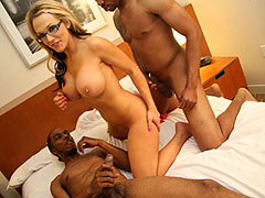 Nikki Sexx interracial gangbang at Blacks On Blondes