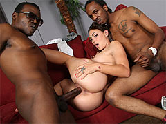 Olivia Wilder in an interracial threesome