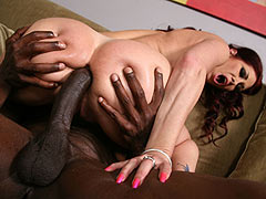 Busty Cougar Tiffany Mynx gets her asshole uninterrupted pounding by a massive black cock