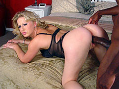 Hot blonde Zoie gets banged in sexy lingerie by a hung black stud