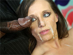 Jamie Jackson takes a Load of Cum all over her Face