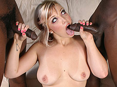 Beautiful Cuckold Queen Candy Monroe in a doublebang by blacks