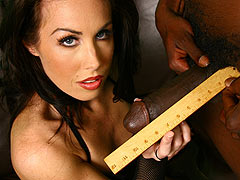 hot brunette goes black in front of her cuckold boyfriend