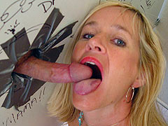 Totally Tabitha sucking a long gloryhole Shlong dry