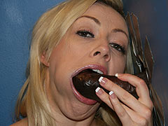 Adrianna Nicole sucking off a huge black gloryhole Cock