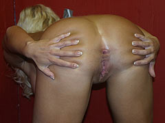 Barb Summers visiting a Gloryhole for the first time