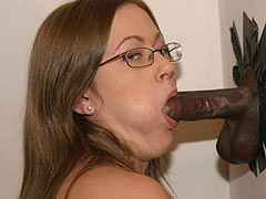 Brandy Dallas visiting a Gloryhole for the first time