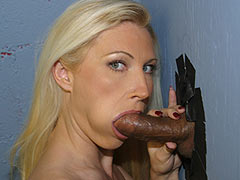 Devon Lee visiting a Gloryhole for the first time