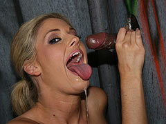 Fayth Deluca sucking a huge black Gloryhole Cock