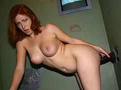 Ginger Blaze takes some black Cock and sucks it dry