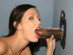 Hailey Young gets nailed by a black dude at a Gloryhole