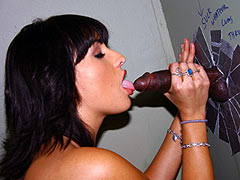 Makali Chanel draining the Cum out of a big black Dong