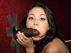 Rikki Love gets nailed by a black dude at a Gloryhole
