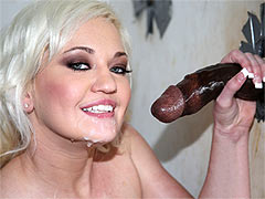 Whitney Grace and a black dong at Gloryhole