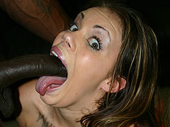 Black Cock lover Gia Paloma sucking a black Thing dry