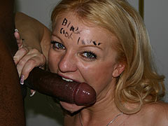 Sexy Jessica Dee facialed by a hung black