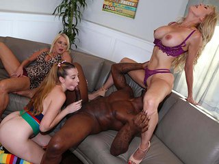 Melody Parker, Brandi Love & Cam interracial porn