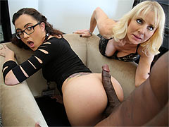 Roxanne Rae and Cammille sharing a black dick