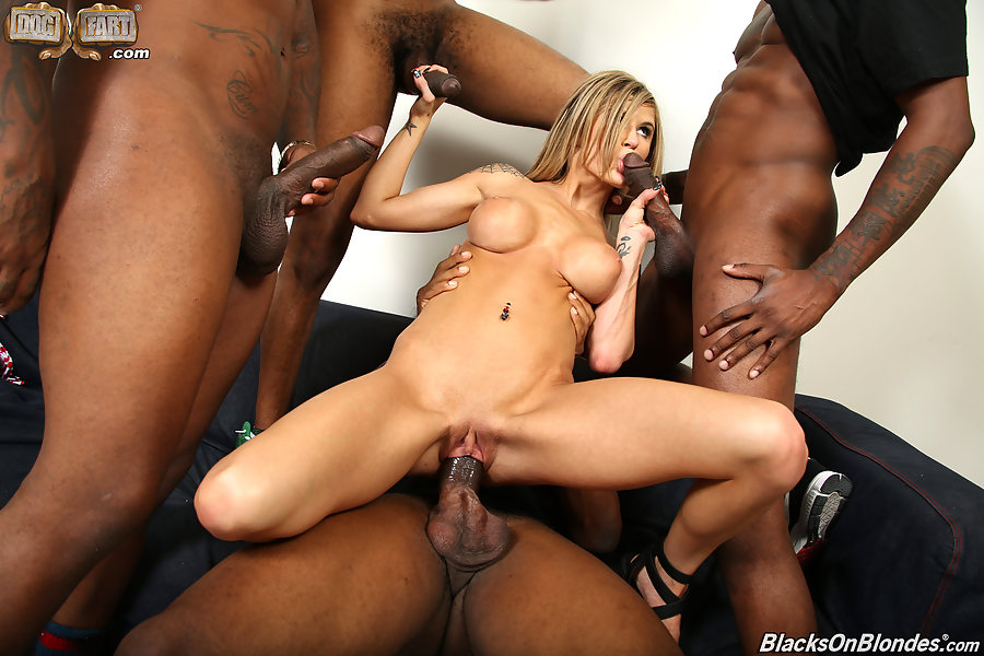 Black cock forced gang
