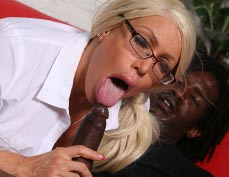 02 Alexis Diamonds all her holes filled with a black cock