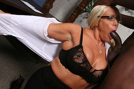 Alexis Diamonds quenches her hunger for black cock from Blacks on Blondes