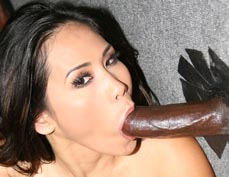 Jessica Bangkok milking black cocks in a Gloryhole from GloryHole