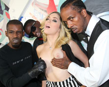 Lia Lor getting bukkaked by several horny black Men from Interracial Blow Bang